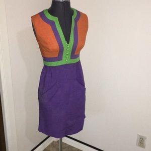 Vintage color lock dress 60's 50's